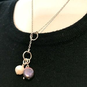 Silpada Pearl Lariat Sterling Silver Necklace